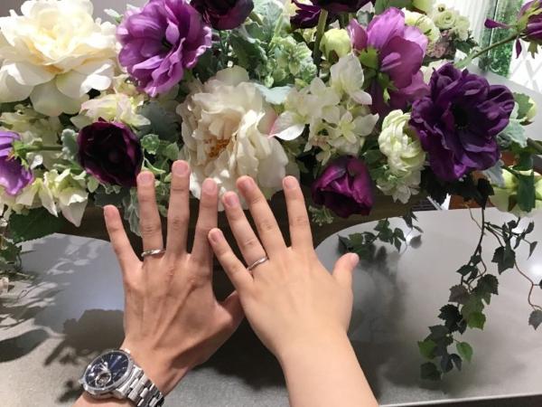 明石市「Mariage ent」の結婚指輪をご成約頂きました。
