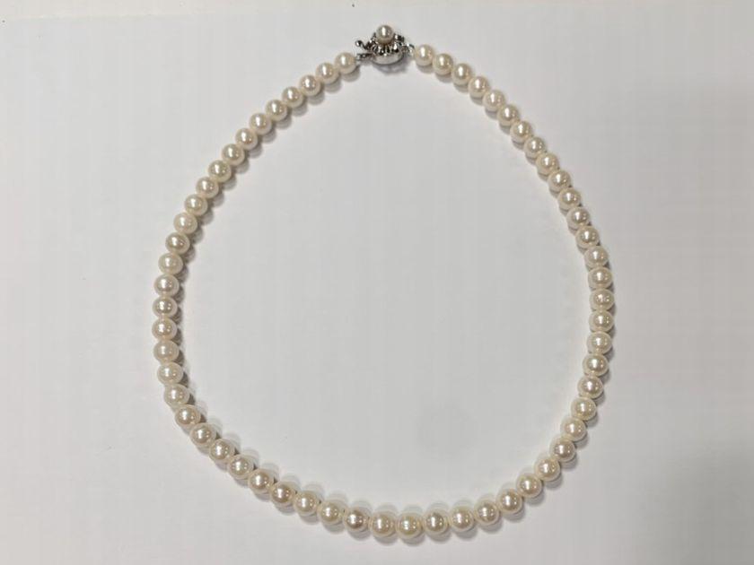 真珠糸替え仕上がり