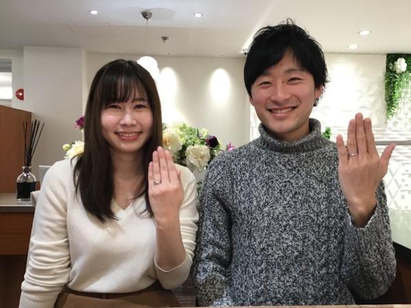 姫路市「LittleGarden」の婚約指輪と「et.lu」の結婚指輪をご成約頂きました。