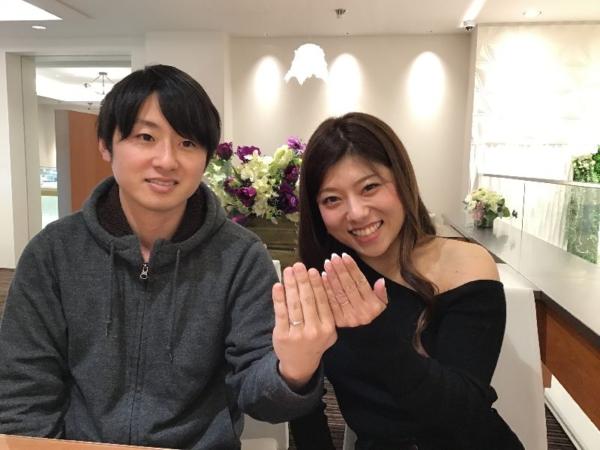 明石市「PAVEOCHOCOLAT」「IROノHA」の結婚指輪をご成約頂きました。