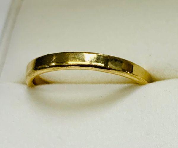 姫路の手作り結婚指輪平打ちデザイン