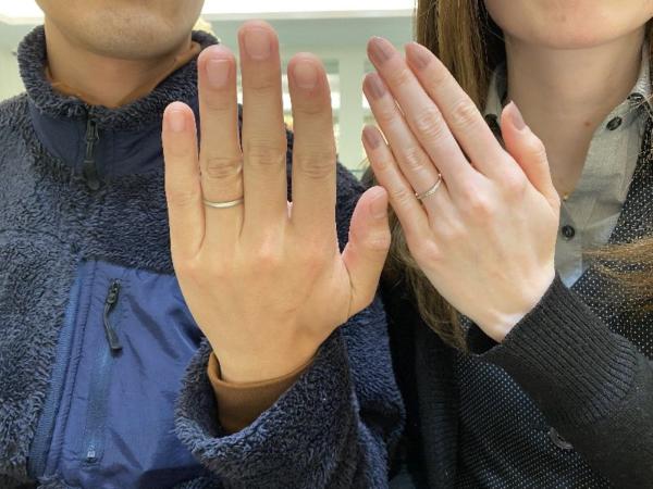 結婚指輪をご成約頂きました。