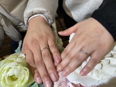たつの市「RosettE」「Mariage ent」の結婚指輪をご成約頂きました。