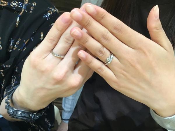 加古川市「katamu」の結婚指輪をご成約頂きました。