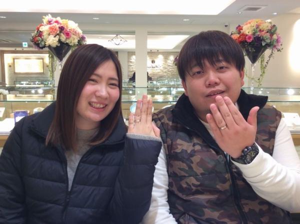 姫路市「FISCHER」「ひな」の結婚指輪をご成約頂きました。