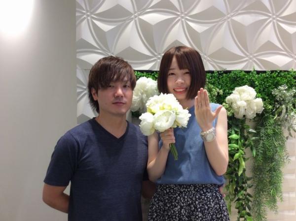 姫路市「Only you」の婚約指輪をご成約頂きました。