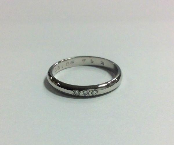 姫路の手作り結婚指輪甲丸仕上げイメージ