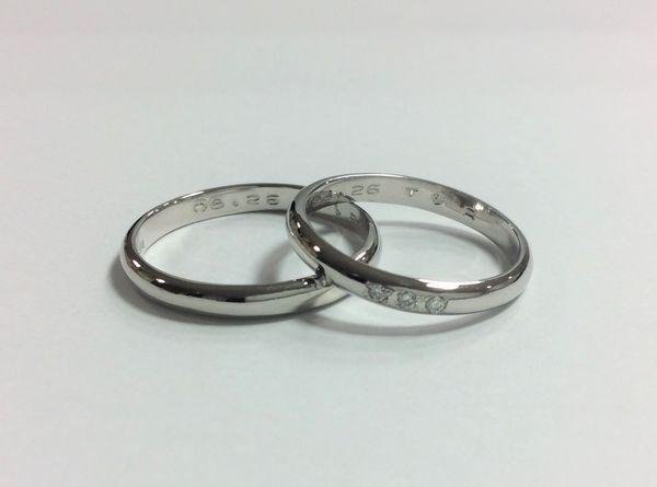 姫路の手作り結婚指輪ダイヤモンドセッティングイメージ