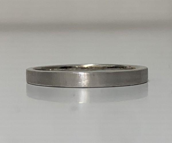 手作り結婚指輪のつや消しイメージ