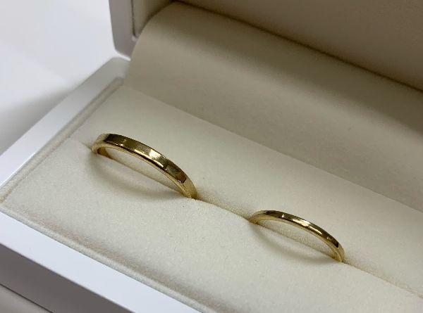 手作り結婚指輪の仕上がりイメージ