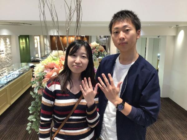 エトルとロゼットの結婚指輪をご成約頂きました。