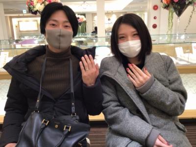 加古郡播磨町「AMOUR AMULET」の結婚指輪をご成約頂きました。