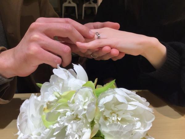 Twinsキューピッドの結婚指輪をご成約頂きました。