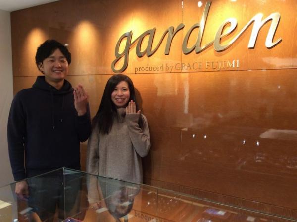 姫路市「ひな」の結婚指輪と「GRACEKAMA」の婚約指輪をご成約頂きました!