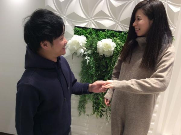 ひなの結婚指輪をご成約頂きました。