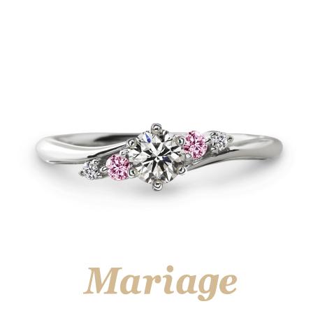 指輪着け比べ会でおすすめの婚約指輪Mariage ent