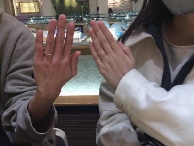 神崎郡市川町「RosettE」「AMOUR AMULET」の結婚指輪をご成約頂きました。