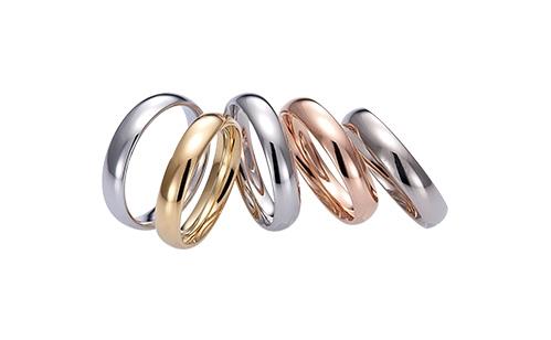 FISCHERの結婚指輪「鍛造製法」プレス製法