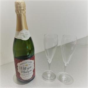 プロポーズ応援企画の特典ノンアルコールシャンパン
