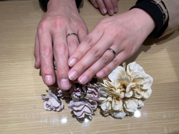 カタムの結婚指輪をご成約頂きました。