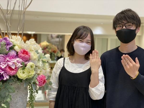 姫路市「フィッシャー」のマリッジリングをご成約頂きました。