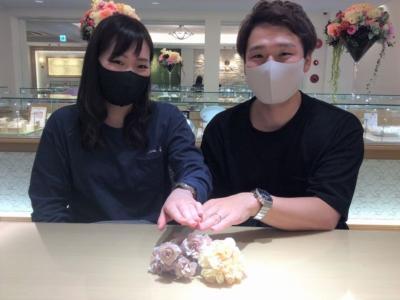 姫路市「et.lu」と「Quand de Mariage」の結婚指輪をご成約頂きました。