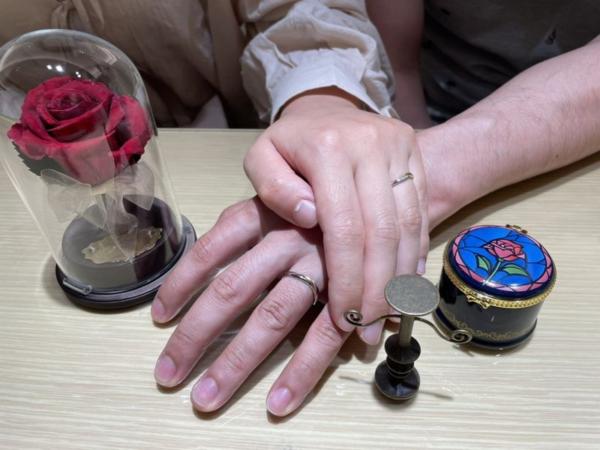 兵庫県加古川市「美女と野獣」の結婚指輪をご成約頂きました。