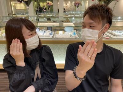 姫路市「プリート」の結婚指輪をご成約頂きました。