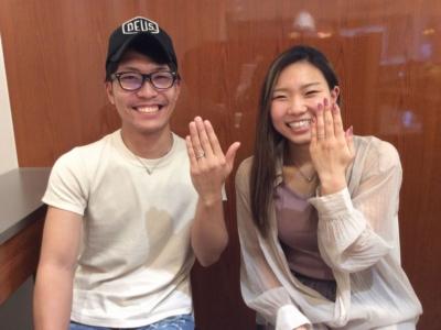 兵庫県たつの市「Katamu」「PilotBridal」の結婚指輪をご成約頂きました。