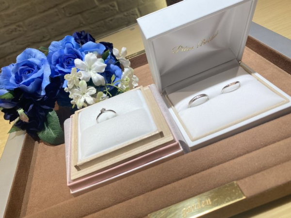 PilotBridalとAMOUR AMULETの結婚指輪をご成約頂きました。