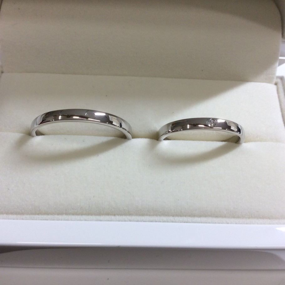 甲丸の手作り結婚指輪