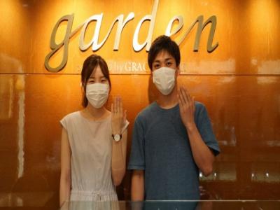 姫路市「Quand de Mariage」と「FISCHER」のマリッジリングをご成約頂きました。